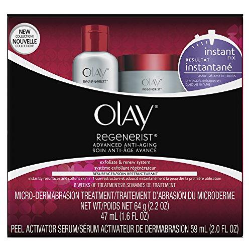 Microdermabrasion Kit by Olay Regenerist, Face Peel & Scrub for Dry Skin