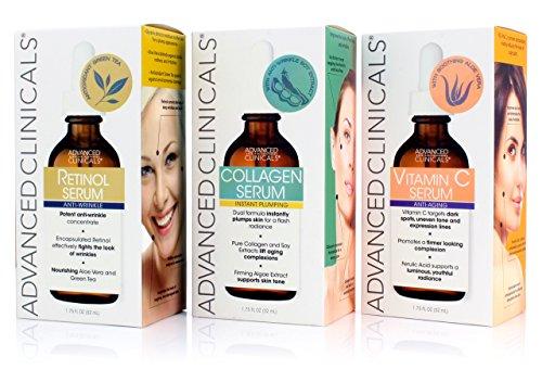 Advanced Clinicals Complete Skin Care Set with Anti-Aging Retinol Serum