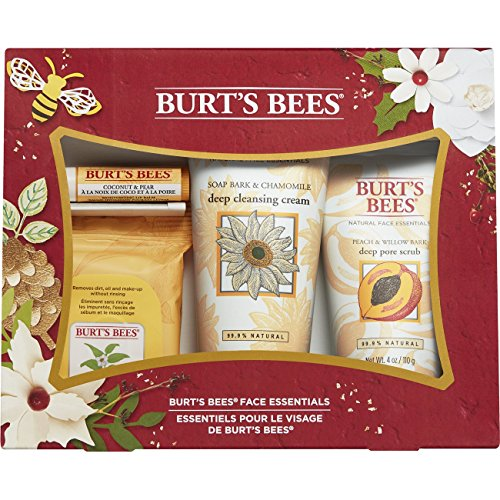 Burt's Bees Face Essentials Gift Set, 4 Skin Care Products