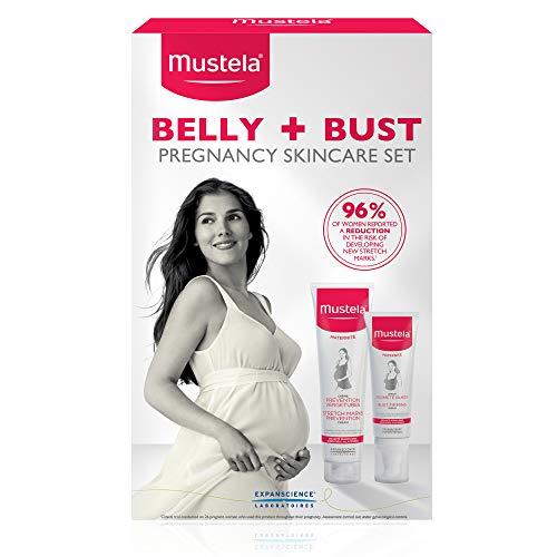 Mustela Belly & Bust Pregnancy Skincare Set, Stretch Marks Prevention Cream