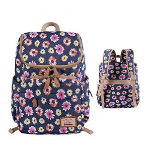 Floral Print Diaper Backpack Large Capacity Nappy Bags Multi-Functional