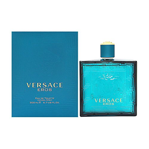 Versace Eros Men Eau De Toilette Spray, 6.7 Fluid Ounce