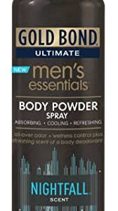 Gold Bond Men's Essentials Body Powder Spray 7 Ounce (Pack of 12) Nightfall Scent