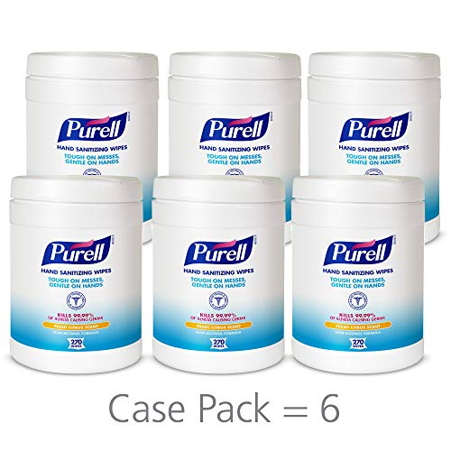 PURELL Hand Sanitizing Wipes, Fresh Citrus Scent, 270 Count Alcohol-free formula