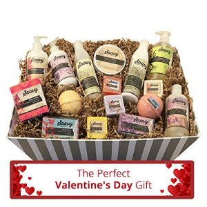 Spa Gift Baskets for Women | Gluten-Free Vegan 16 Piece Set Includes Organic Body