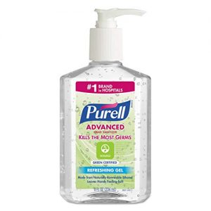 PURELL Advanced Hand Sanitizer Green Certified Gel, Fragrance Free