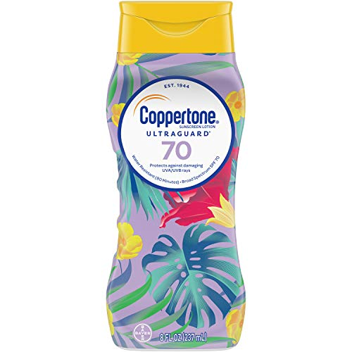 Coppertone ULTRA GUARD Sunscreen Lotion Broad Spectrum SPF 70 (8 Fluid Ounce) (Packaging may vary)