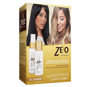 ZELO Smoothing Brazilian Keratin Hair Treatment Kit - Eliminates Frizz