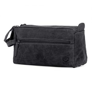 Rustic Town Buffalo Leather Toiletry Bag : Vintage Travel Shaving & Dopp Kit