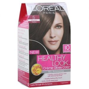 Loreal Healthy Look Hair Dye, Creme Gloss Color, Medium Brown