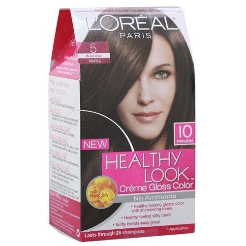Loreal Healthy Look Hair Dye, Creme Gloss Color, Medium Brown