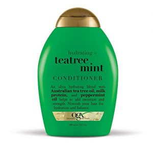 OGX Hydrating TeaTree Mint Conditioner, 13 Ounce Bottle, Hydrating