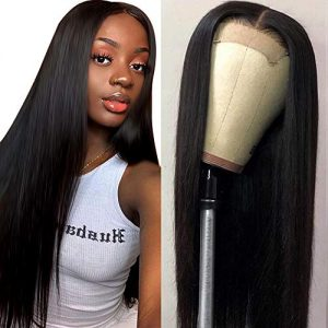 Muokass 4x4 Lace Front Wigs Straight Hair Brazilian Virgin Human Hair Lace