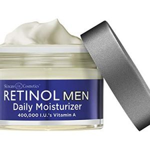 Retinol Men's Daily Moisturizer - The Original Retinol Moisturizing Cream Made For A Man's Skin - Anti-Aging Benefits of Exfoliating Vitamin A & Deep Hydration For Healthier, Younger Looking Skin