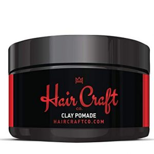 Hair Craft Co. Clay Pomade 2.8oz - Shine Free Matte Finish - Medium Hold/Natural