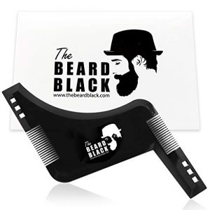 The Beard Black Beard Shaping & Styling Tool with inbuilt Comb for Perfect line up