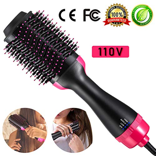 Hair Dryer Brush One Step Hot Air Brush 4-in-1 Hair Curling Iron Hair Straightener