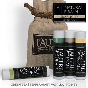 All Natural Luxury Lip Balm with Natural Beeswax by L'AUTRE PEAU