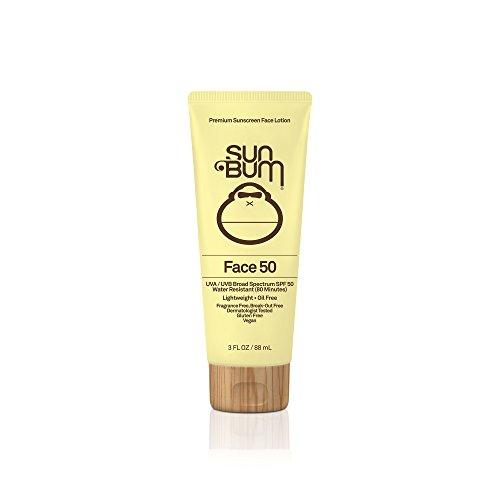 Sun Bum Original SPF 50 Sunscreen Face Lotion | Vegan and Reef Friendly (Octinoxate & Oxybenzone Free) Broad Spectrum Fragrance-Free Moisturizing UVA/UVB Sunscreen with Vitamin E | 3 oz