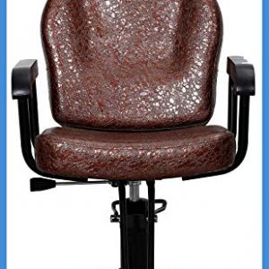 All Purpose Salon Barber Chair Brown Color with Titling Function