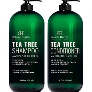 Botanic Hearth Tea Tree Shampoo and Conditioner Set