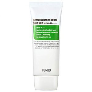 PURITO Centella Green Level Safe Sun SPF50+ PA++++,Sunscreen for face, Broad Spectrum UVA1,2,UVB,Oil-Free Suncream, Non-Nano System, Acne-prone skin, reef safe sunscreen