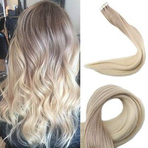 Full Shine 18 Inch Human Hair Tape Hair Extensions Brazilian Hair Color