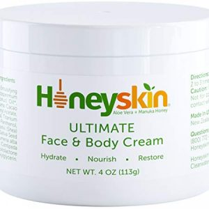 Face and Body Moisturizer Cream - Organic Aloe Vera and Manuka Honey