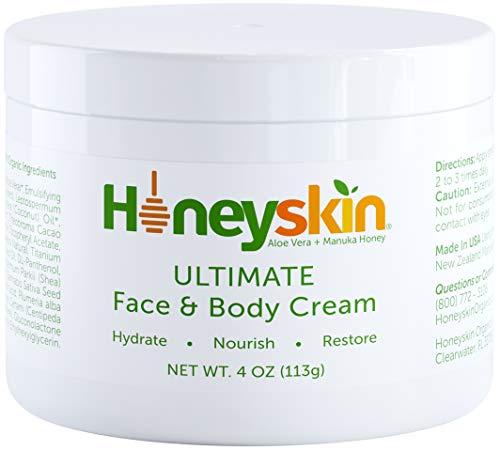 Face and Body Moisturizer Cream - Organic Aloe Vera and Manuka Honey