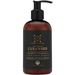 Organic Men's Face & Body Wash - Premium Moisturizing Cleanser