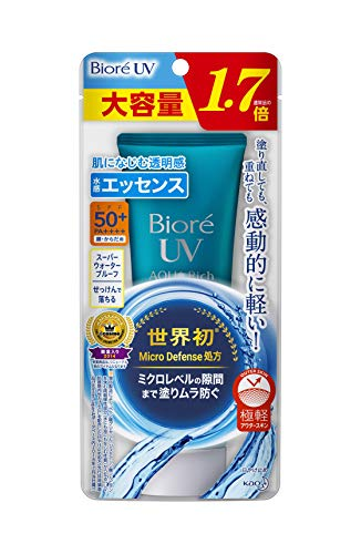 Biore UV Aqua Rich Watery 85 g (1.7 times the normal product) Sunscreen SPF 50 + / PA ++++【Large capacity】