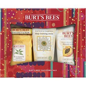 Burt's Bees Face Essentials Holiday Gift Set, 4 Skin Care Products