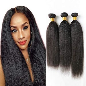 DAIMER Kinky Straight Yaki Hair Wave 3 Bundles 18 20 22 Inch Unprocessed