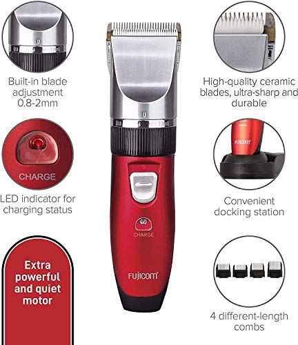 FUJICOM High-performance Home Haircut and Grooming Kit for Men- Cordless