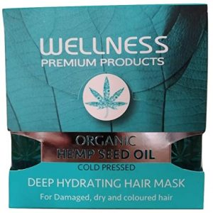 Organic Hemp Seed Oil Cold Pressed Deep Hydrating Hair Mask for Damaged Dry