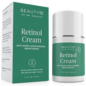 BeautyRx by Dr. Schultz Retinol Cream Moisturizer 2.5% for Face & Eyes for Wrinkle