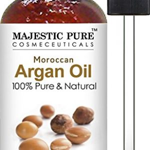 Majestic Pure Moroccan Argan Oil for Hair, Face, Nails, Beard & Cuticles