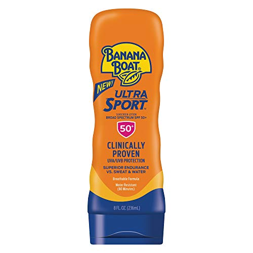 Banana Boat Ultra Sport Sunscreen Lotion, New Formula, SPF 50+, 8 Ounces