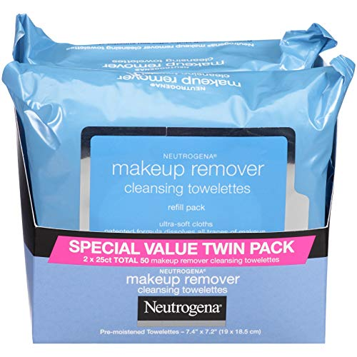 Neutrogena Makeup Remover Cleansing Towelettes, Daily Cleansing Face Wipes