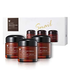 Korean Skin Care Set: Mizon's All in One Snail Repair Cream 3 Pack