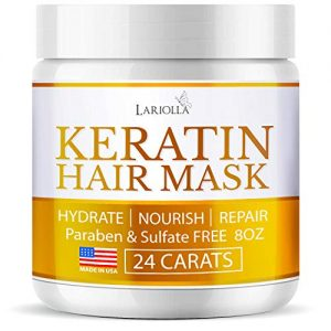 Keratin Hair Mask - Repairs Dry & Damaged Hair - Professional Keratin