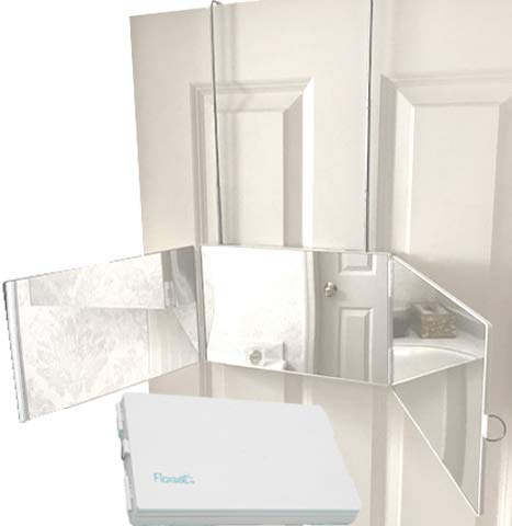 Floxsee Portable Adjustable Tri-Fold Mirror for Home or Travel