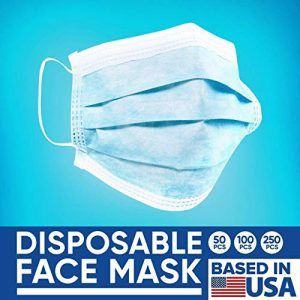 Disposable Face Masks - 50 PCS - For Home & Office - 3-Ply Breathable & Comfortable Filter Safety Mask