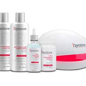 SaIe: iRestore Laser Hair Growth System: Essential Kit - FDA Cleared Laser Cap Hair