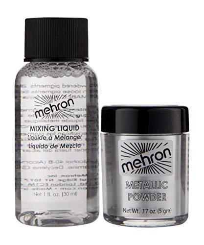 Mehron Makeup Metallic Powder (.17 oz) with Mixing Liquid