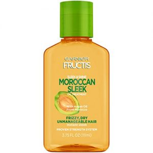 Garnier Fructis Sleek & Shine Moroccan Sleek Oil Treatment, Frizzy, Dry Hair