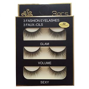 Imported Fiber Attractive 3D Mink Handmade Reusable Long Cross False Eyelashes