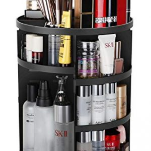 Syntus 360 Rotating Makeup Organizer, DIY Adjustable Bathroom Makeup Carousel
