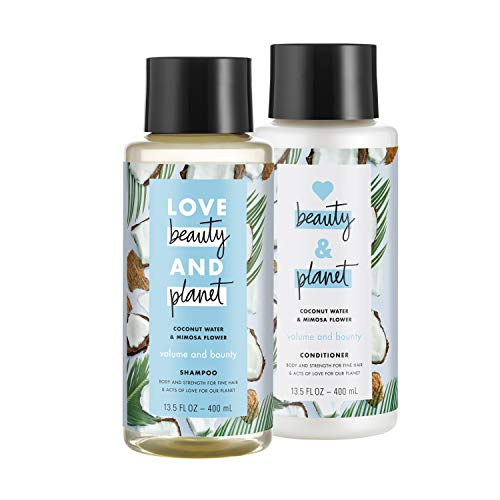 Love Beauty And Planet Volumizing Shampoo and Conditioner, Paraben Free