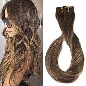 Full Shine 16 Inch 9 Pcs 100 Gram Clip Hair Balayage Dip Dyed Clip